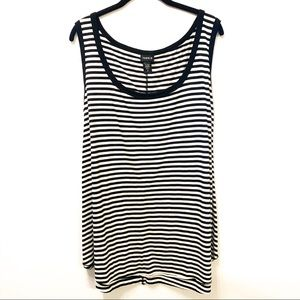Torrid Black and White Striped Tank Top
